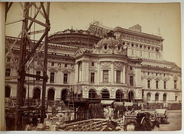 La construction du Palais Garnier