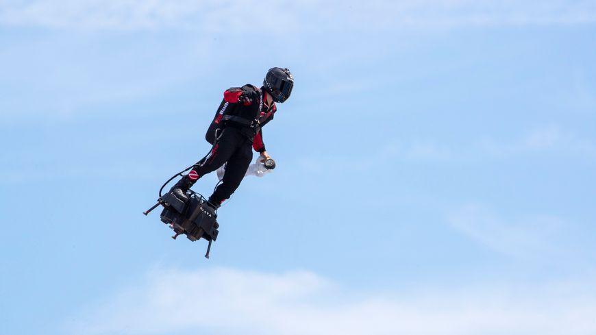 Franck Zapata avait déjà fait une démonstration de son invention lors du Grand Prix de France de F1 au Castellet