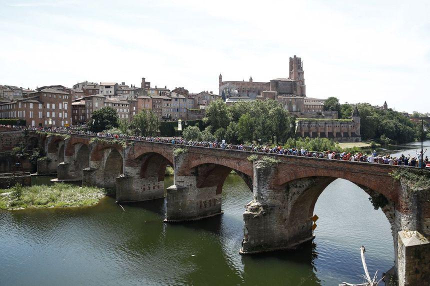 Le Tour entre Albi et Toulouse