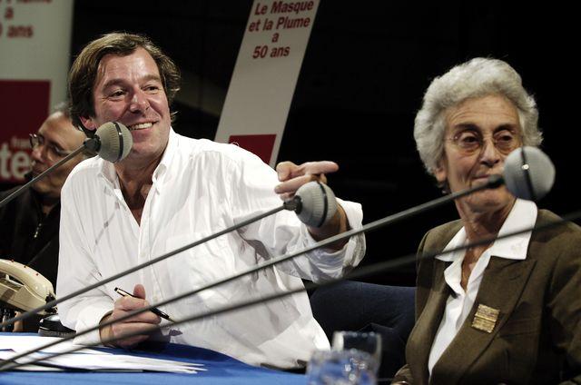 Jérôme Garcin et Danièle Heymann lors des 50 ans du Masque & la Plume, en 2013