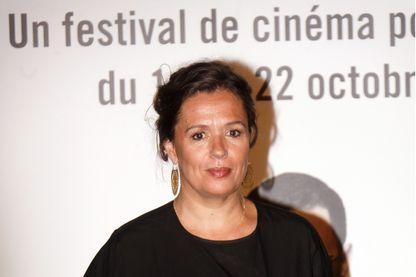 La réalisatrice, scénariste, et auteure Delphine au festival de films Lumière à Lyon le 20 octobre 2017.