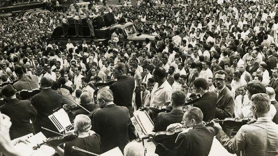 Cortège funèbre d'Heitor Villa-Lobos, Rio de Janeiro 1959