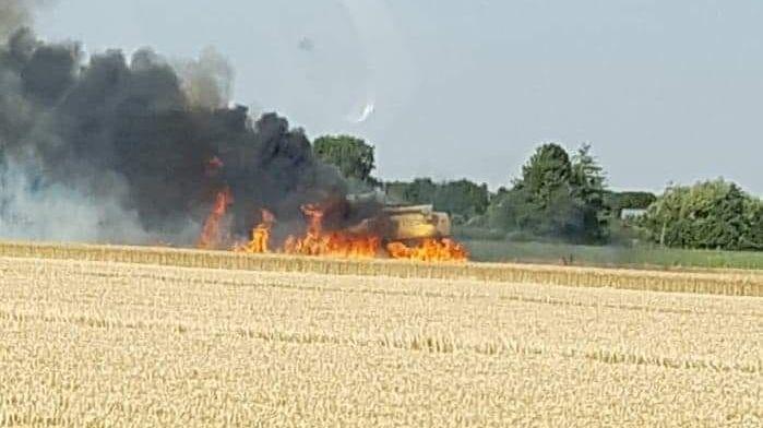 Sur la départementale 840, dans l'Eure, la parcelle a pris feu en fin d'après-midi mardi 23 juillet