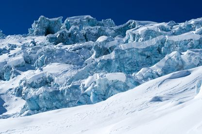 Neige et glace au Pôle sud