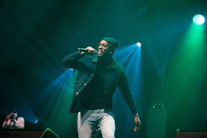 Dabs, rappeur au zénith de paris le 2 décembre 2018 à Paris.