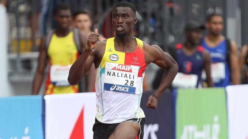 Christopher Naliali lors des championnats de France 2019