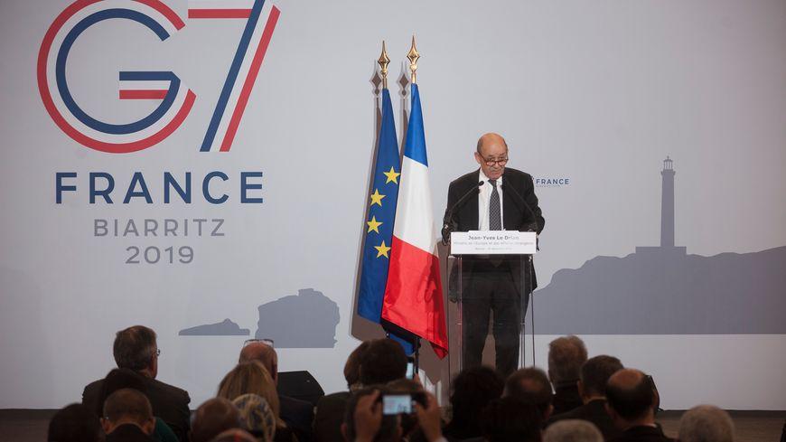 Jean-Yves le Drian, Ministre des Affaires étrangères à Biarritz