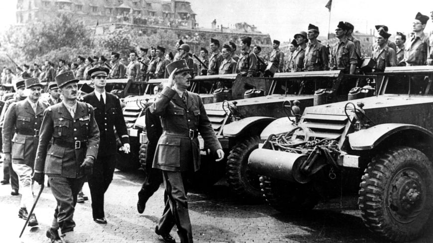 Le général de Gaulle, le 26 août à Paris