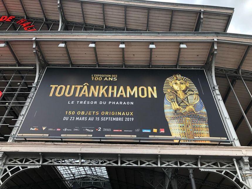 L'entrée de l'exposition événement Toutânkhamon à La VIllette