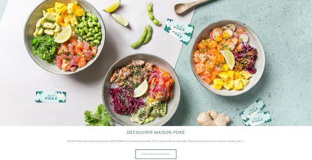 Avec Maison Poké, Uber Eats a crée la première chaîne de restaurants virtuels en France