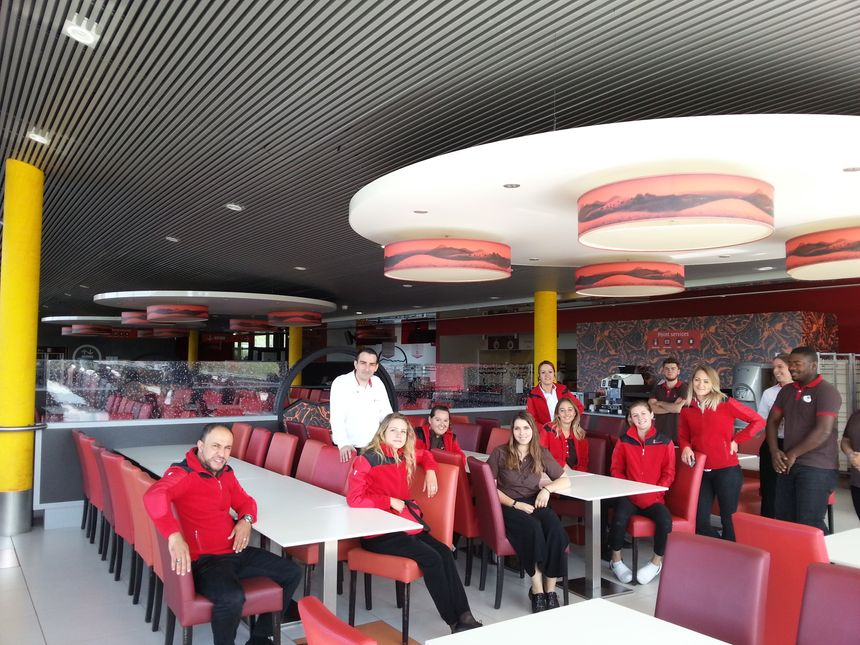L'équipe de la Brasserie de Vulcania