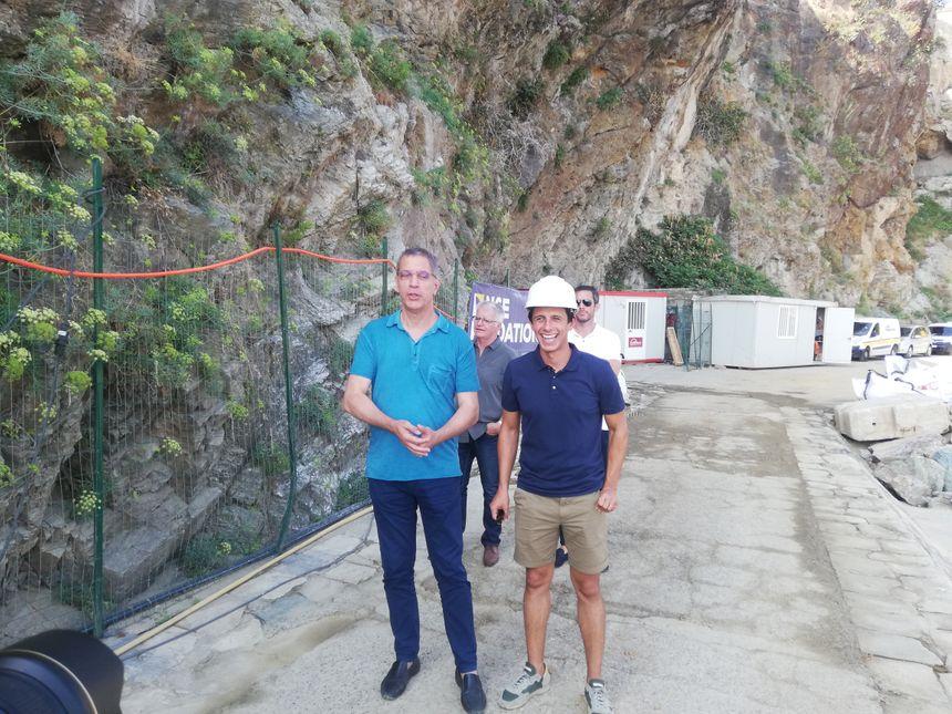 Pierre Savelli, le maire de Bastia, avec l'architecte, Jean-Philippe Spinelli