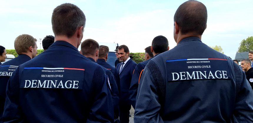 Visite du ministre de l'Intérieur Christophe Castaner à Biarritz (Pyrénées-Atlantiques) avant la tenue du G7, 20 août 2019.