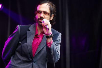 """David Berman, le fondateur du groupe """"Silver Jews"""" en concert en Espagne, le 31 mai 2008."""