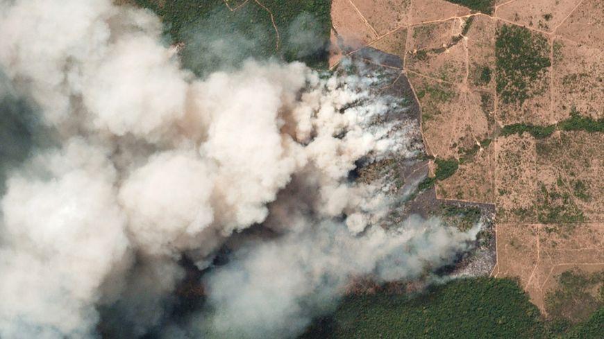 Une vue depuis l'espace, prise le 20 août dernier, des incendies dans l'État de Para, au Brésil.