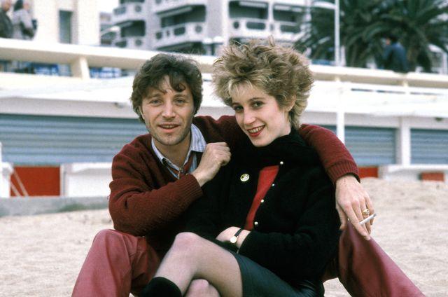 Le groupe Chagrin d'amour composé de Valli et Grégory Ken au Midem à Cannes en 1982