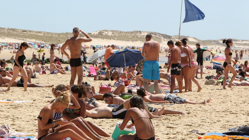 plage centrale de Lacanau