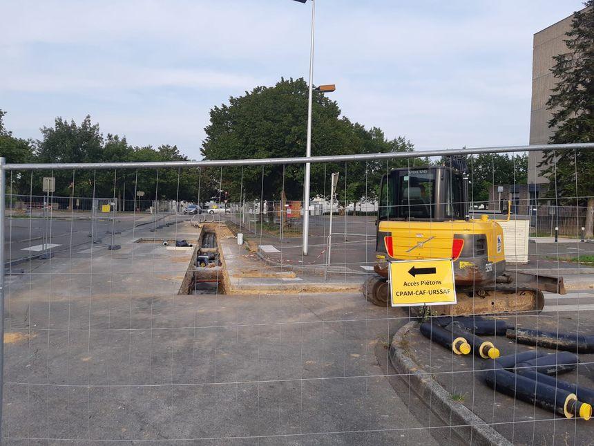 Le chantier où a eu lieu l'incident.