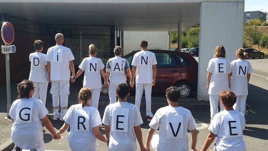 Les personnels des urgences de Dinan ont rejoint le mouvement national de grève.