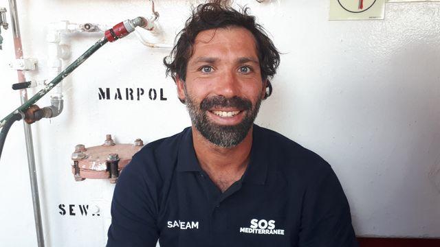 Jérémy, marin sauveteur à bord de l'Ocean Viking