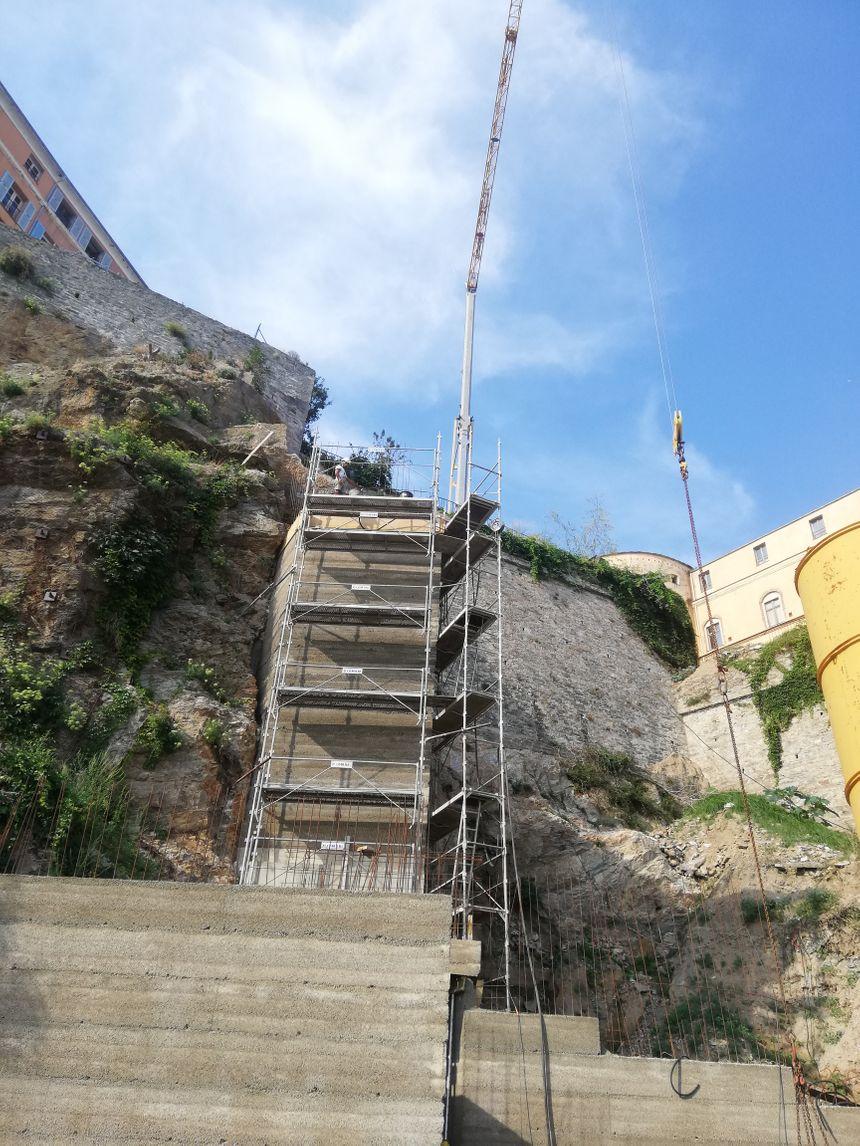 Mantinum c'est aussi le futur ascenseur qui reliera le quai sud du vieux-port à la citadelle de bastia