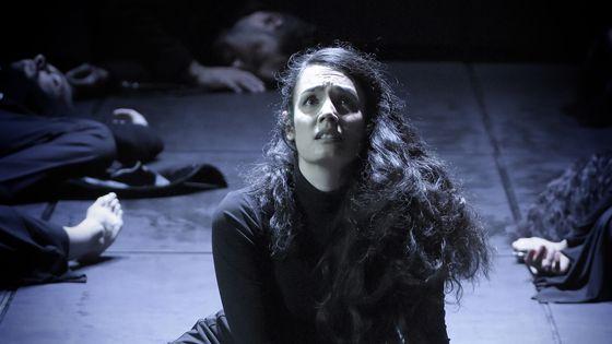 Gaëlle Arquez, dans le rôle d'Iphigénie au Théâtre des Champs-Elysées