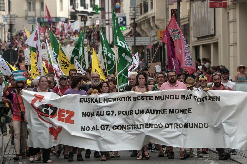 Le 13 juillet, les altermondialistes et écologistes manifestent contre le 45e sommet du G7 qui va se dérouler à Biarritz les 24 et 26 août prochains.