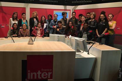 Avec les élèves du collège Georges Rouault dans le 19e arrondissement de Paris