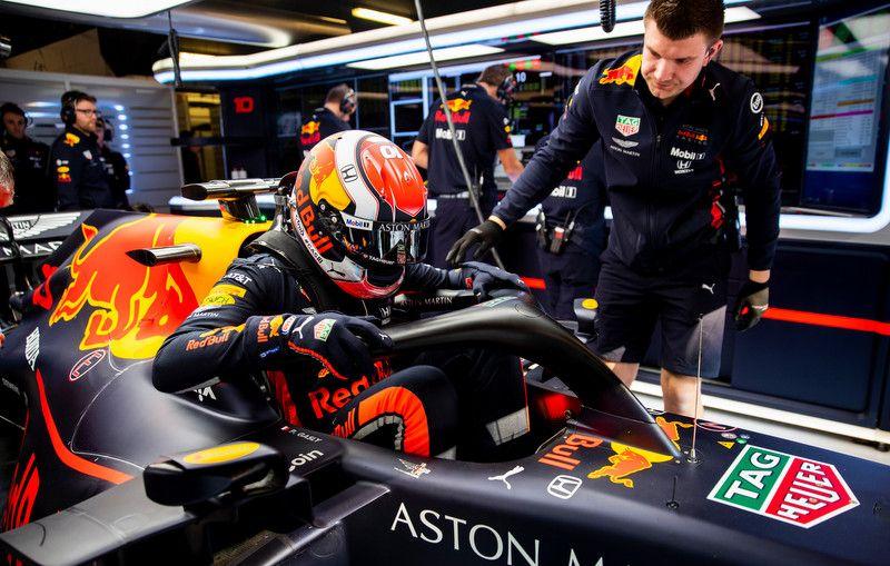 Le premier couac dès son installation dans la Red Bull lors des essais pré-saison à Barcelone