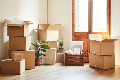 Cartons pour un déménagement.