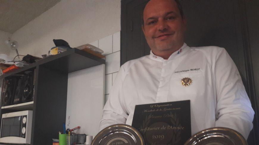Champion du monde et meilleur confiturier de France de l'année 2019, Jean-Christophe Michelet a aussi été nommé académicien de l'Académie Culinaire de France au mois de juin.