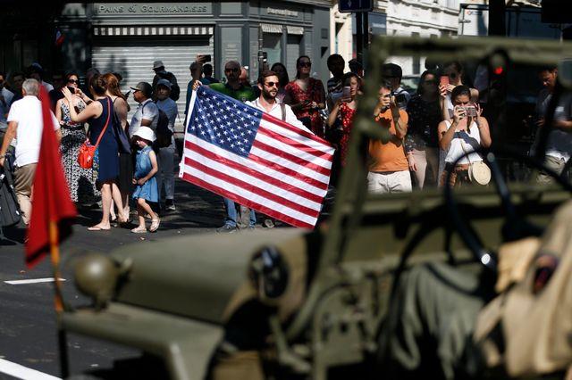 Des vétérans américains étaient présents pour les cérémonies.