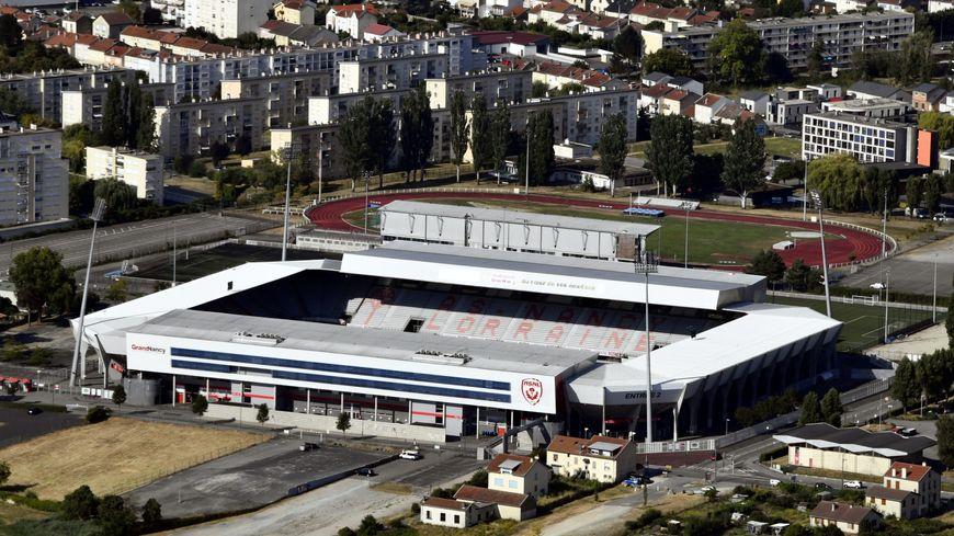 Vue aérienne du stade Marcel Picot à Tomblaine le 31 juillet 2018