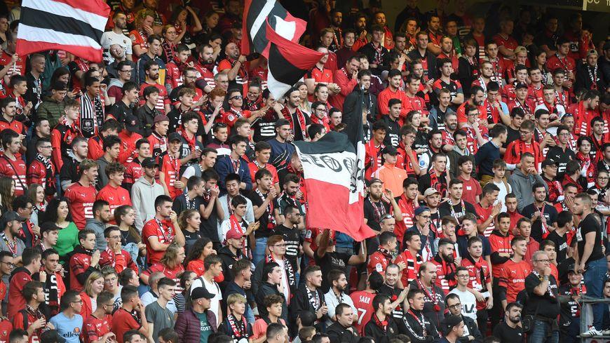 La tribune des supporters rennais dimanche 18 août.