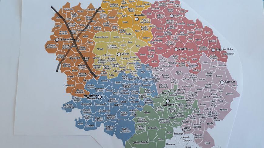 La nouvelle carte des communautés de communes en Creuse au 1er janvier 2020