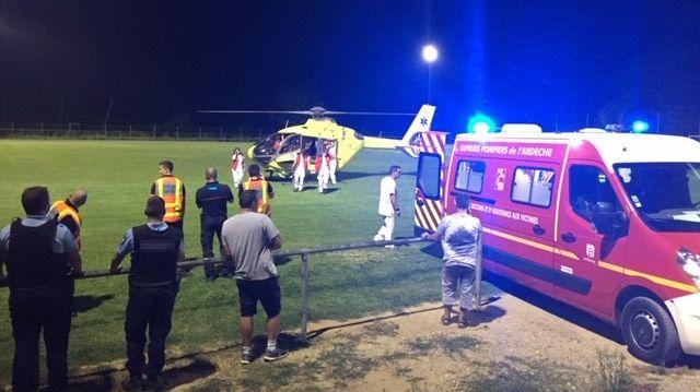 La victime a été héliportée vers l'hôpital d'Aubenas