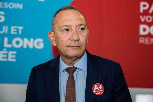 François Toujas est président de l'EFS depuis octobre 2012.