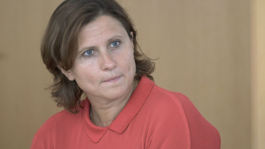 Roxana Maracineanu, ministre des sports, jeudi à Saint-Nazaire