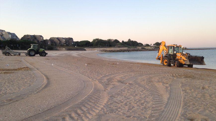 Nettoyage de la plage des Minimes