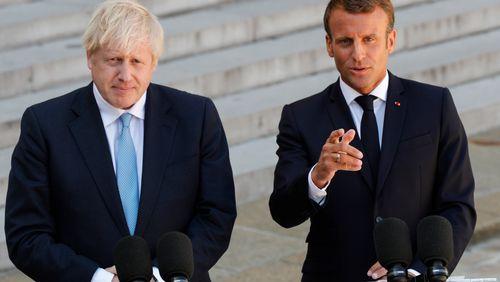 Emmanuel Macron et Boris Johnson en désaccord sur le Brexit