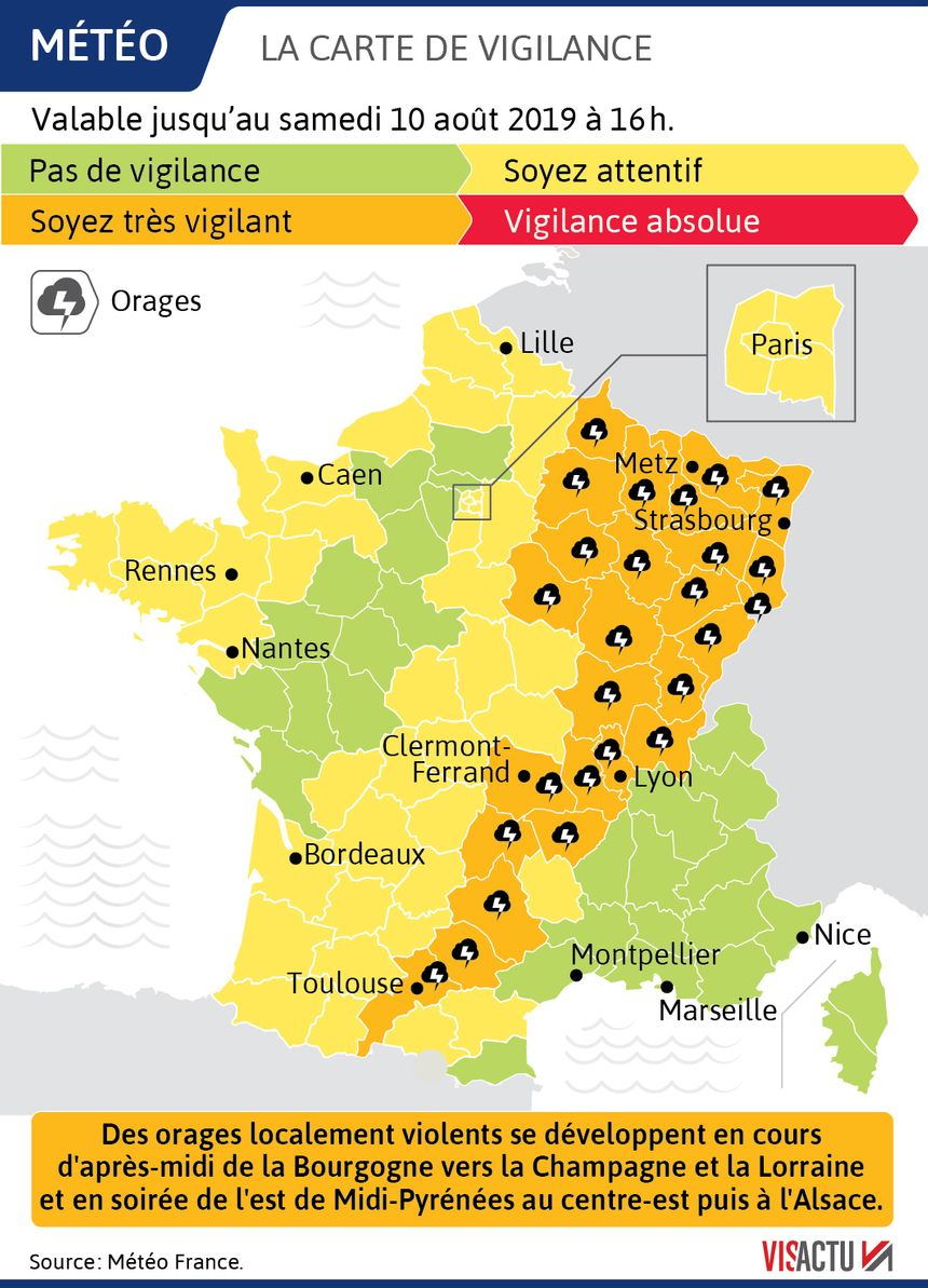 Alsace Carte De Vigilance Orange.Alsace Carte De Vigilance Orange