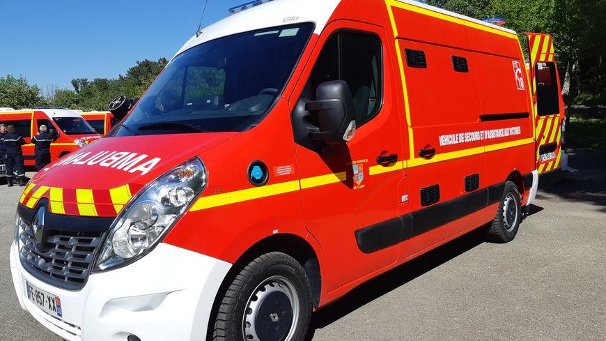 Une ambulance des pompiers du Gard