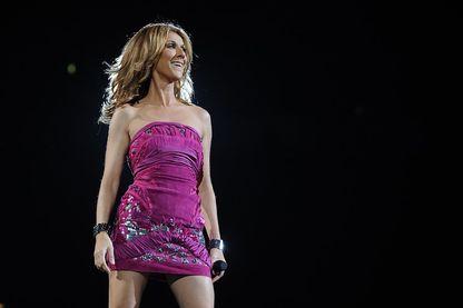"""Céline Dion, en concert dans l""""O2 Arena de Londres, Royaume-Uni."""