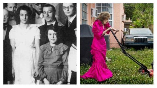 Ginette Neveu et Ida Haendel / Ida Haendel en robe de soirée