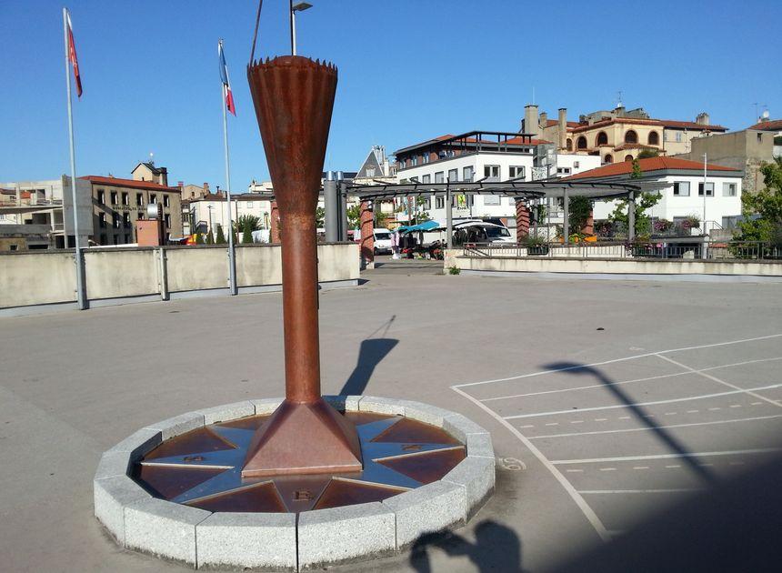 Cadran solaire, place du Antonin Chastel à Thiers
