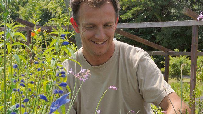 Le jardinier Laurent Bourgeois