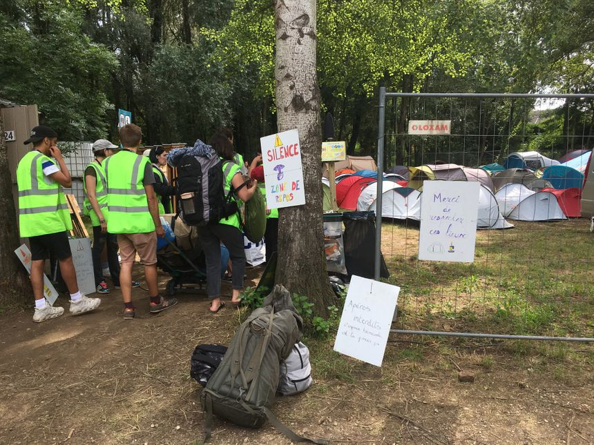 Le camping des bénévoles