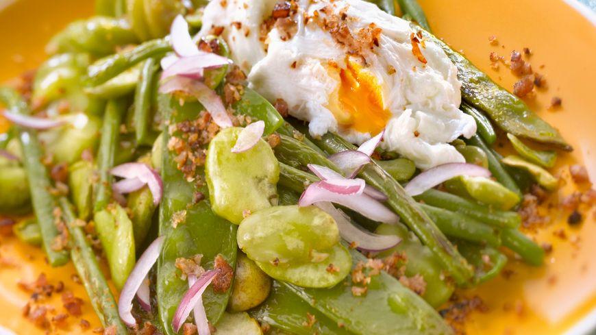 Salade aux fèves