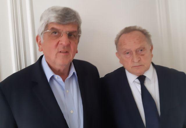 L'avocat jean-Alex Buchinger et Louis Kirsch, gérant de l'hôtel Picard