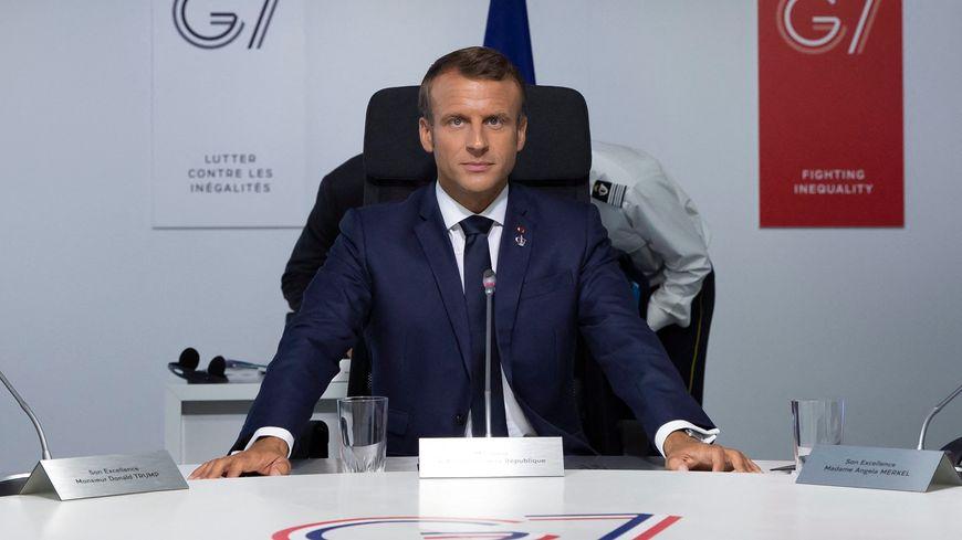 Emmanuel Macron à Biarritz, à l'occasion du sommet du G7.